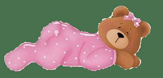 sleeping baby teddy