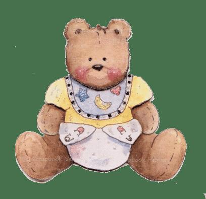 diaper bear sitting