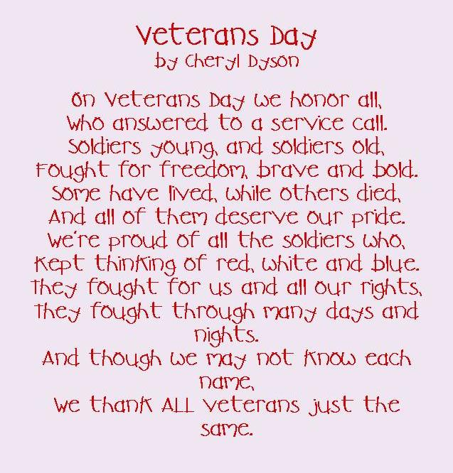 VETERANS DAY POEM AVA PAM